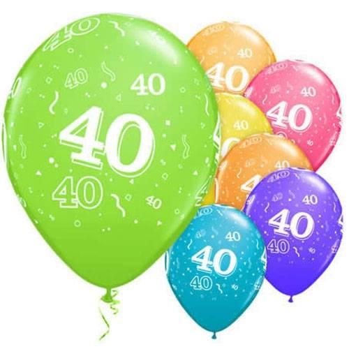 tal på 40 års fest Balloner til 40 års fødselsdag   Qualatex balloner. tal på 40 års fest