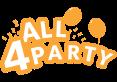 Rosetter i blå og guld - 4 stk